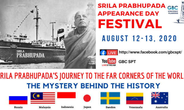 Special Vyasa-Puja Online Event to Celebrate Srila Prabhupada's Journeys to the Far Corners of the World (from ISKCON News)