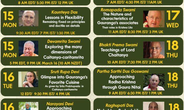 CELEBRATING SRI CAITANYA CARITAMRITA – EVENTS