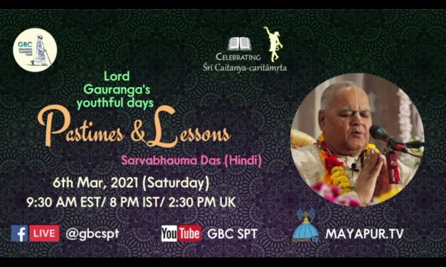 Lord Gauranga's youthful days-Pastimes and lessons