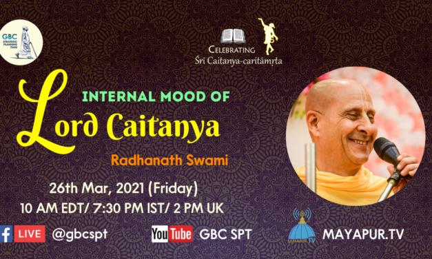Internal mood of Lord Caitanya