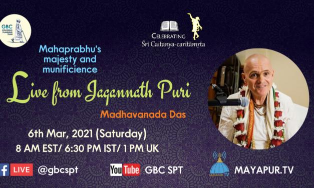 Mahaprabhu's majesty and munificience-Live from Jagannath Puri