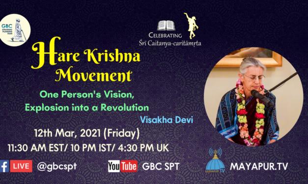 Hare Krishna Movement-One person's vision, explosion into a revolution