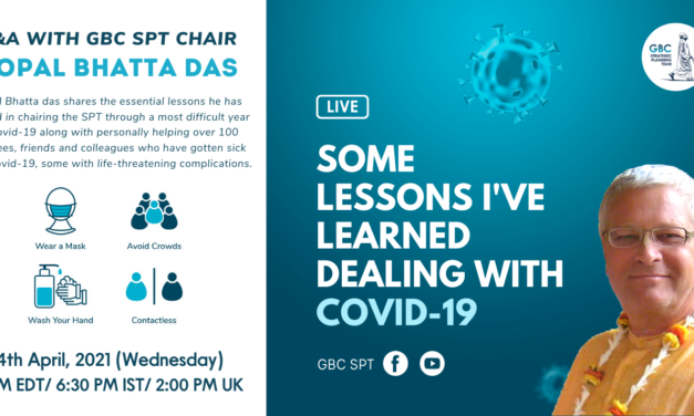 Some Lessons I've learned dealing with Covid-19, Q&A with GBC SPT Chair