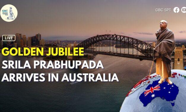 Golden Jubilee: Srila Prabhupada arrives in Australia