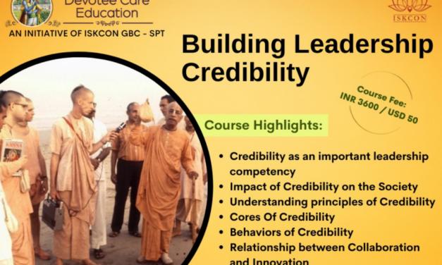 Online Leadership Development Program for ISKCON devotees