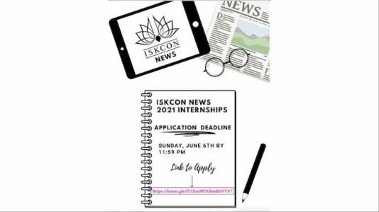 ISKCON News' Summer Internship Program