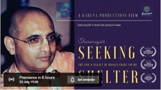 Documentary on HH Bhakti Charu Swami being released today (23 July)